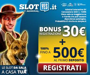 Gioca su Slotyes con 30 euro gratis
