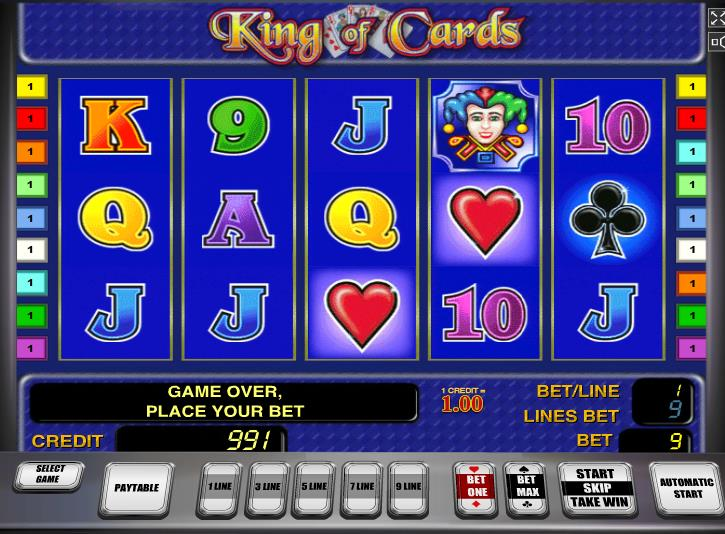 casino online gratis king of cards