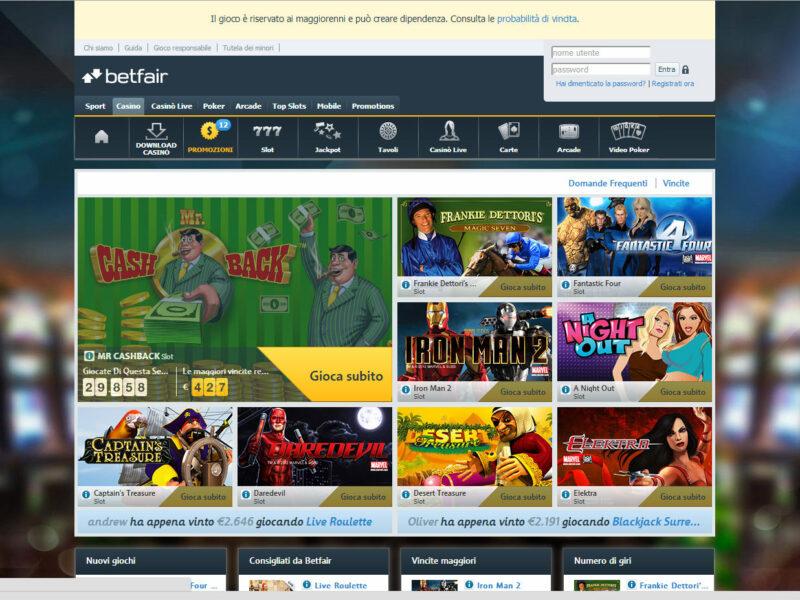 recensione betfair casino bonus